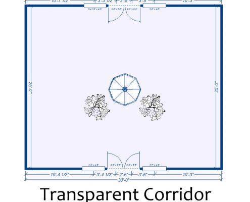 Transparent Corridor Façade