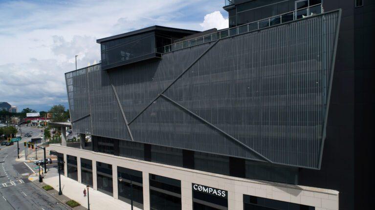aluminum panels over window